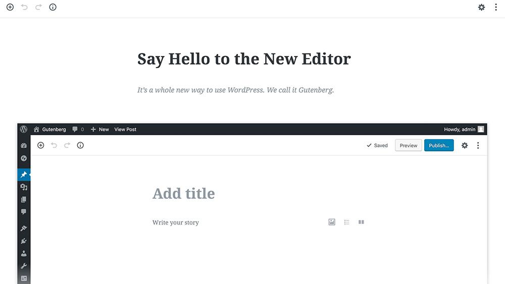 wordpress-gutenberg-editeur